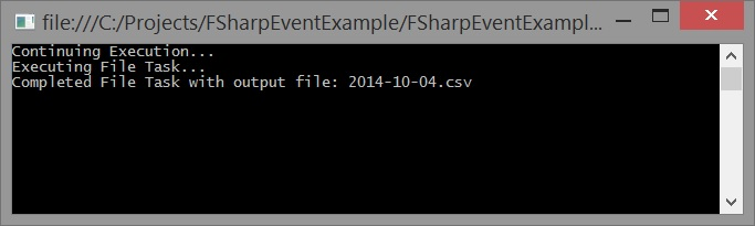 C# and F# event output