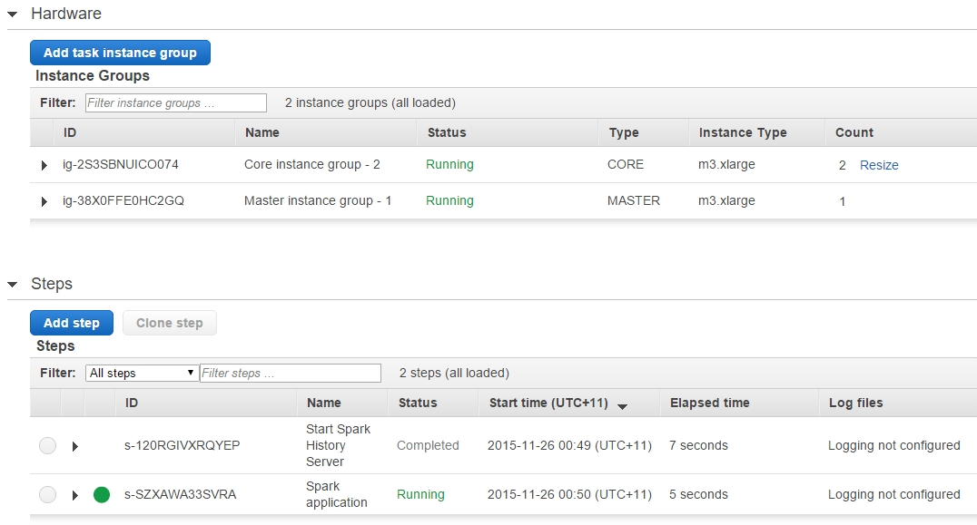 AWS EMR Provisioning Cluster
