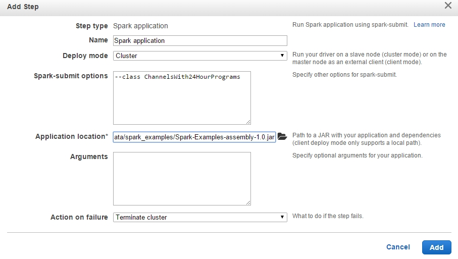 AWS EMR Spark Application Configuration