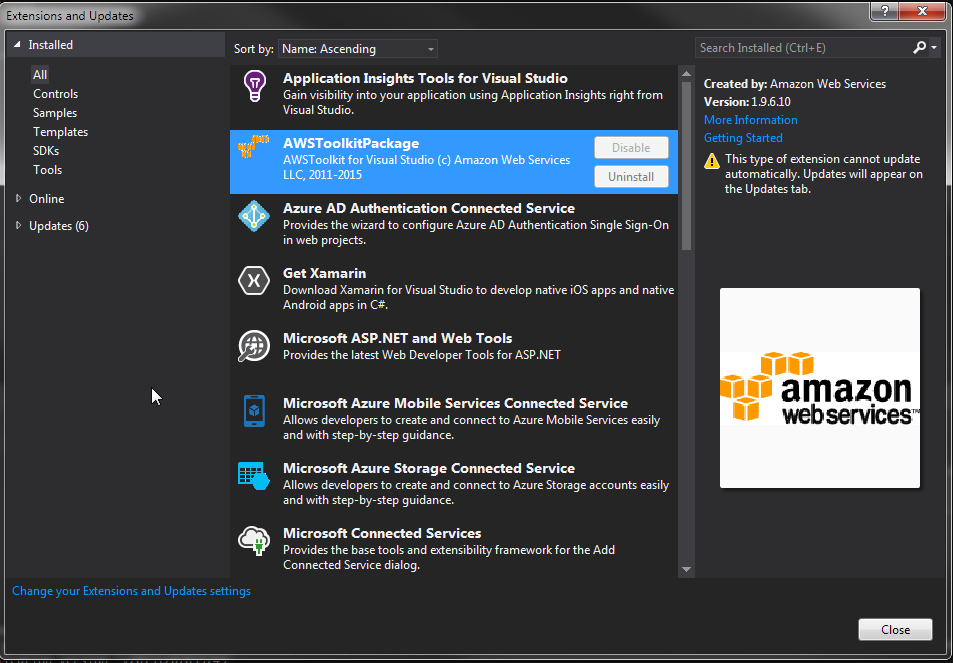 AWS Visual Studio ToolKit