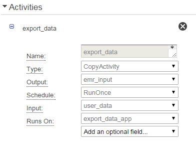 AWS Activity Configuration