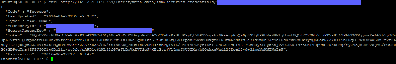 Using AWS Temporary Security Credentials on EC2 with Node.js
